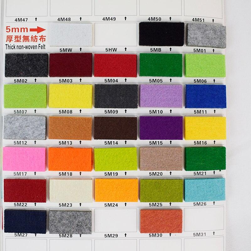5mm Polyester NOT wool Felt Fabric handmade diy craft telas fieltro vilt Thick sound-proofing filc dekoracyjny 45x90cm