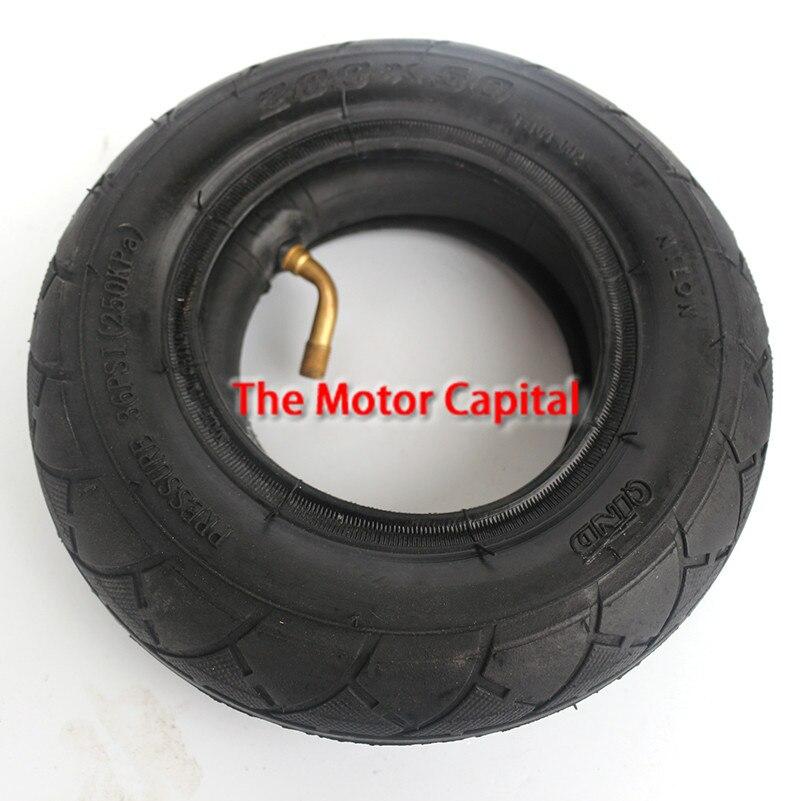 """QINDA (8 """"X 2"""") 200X50 (8 pulgadas) neumático para Scooter eléctrica o de gasolina y Scooter Eléctrico (tubo interno incluido) Rueda delantera para silla de ruedas"""