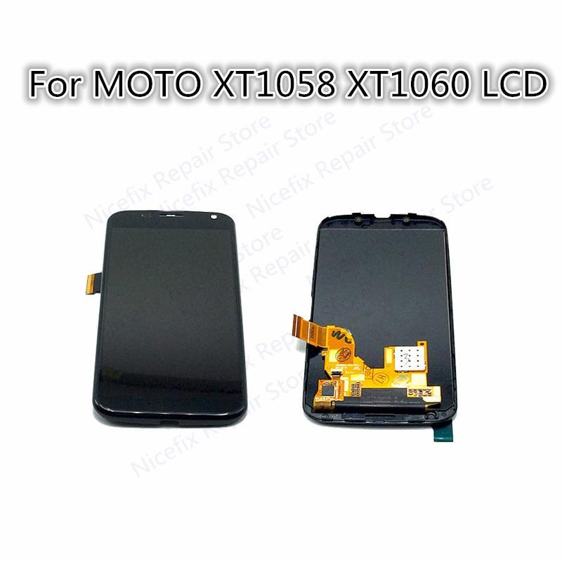 Para Motorola Moto X XT1058 XT1060 pantalla táctil LCD con montaje, negro envío gratis nueva llegada