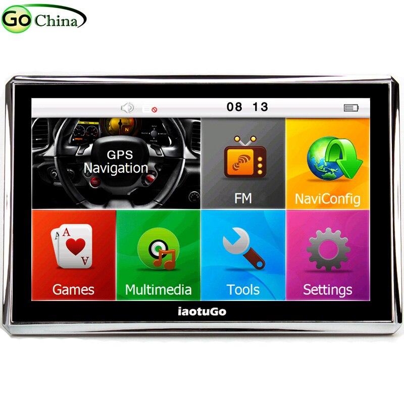 """IaotuGo 5 """"Автомобильный gps-навигатор, навигация, грузовик, gps, 800 МГц, 128 м, 4G, fm-передатчик, игры, бесплатные карты, обновленные карты грузовиков"""