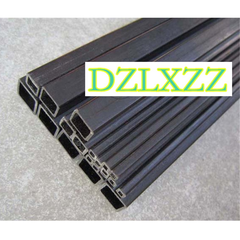 2PC-6 Uds de fibra de carbono tubo cuadrado 3-60MM de fibra de carbono exterior interior cuadrado tubo cuadrado de 500mm