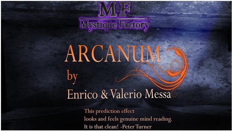 Arcanum por enrico & valerio messa mystique fábrica truques de magia