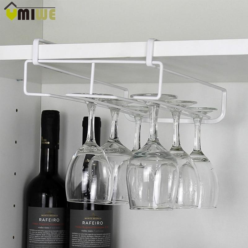 Nuevo soporte para copas de vino de acero inoxidable, estante para copas de vino, barra de cocina, estante para colgar en la pared para copas de vino y champán, soporte de almacenamiento para copas