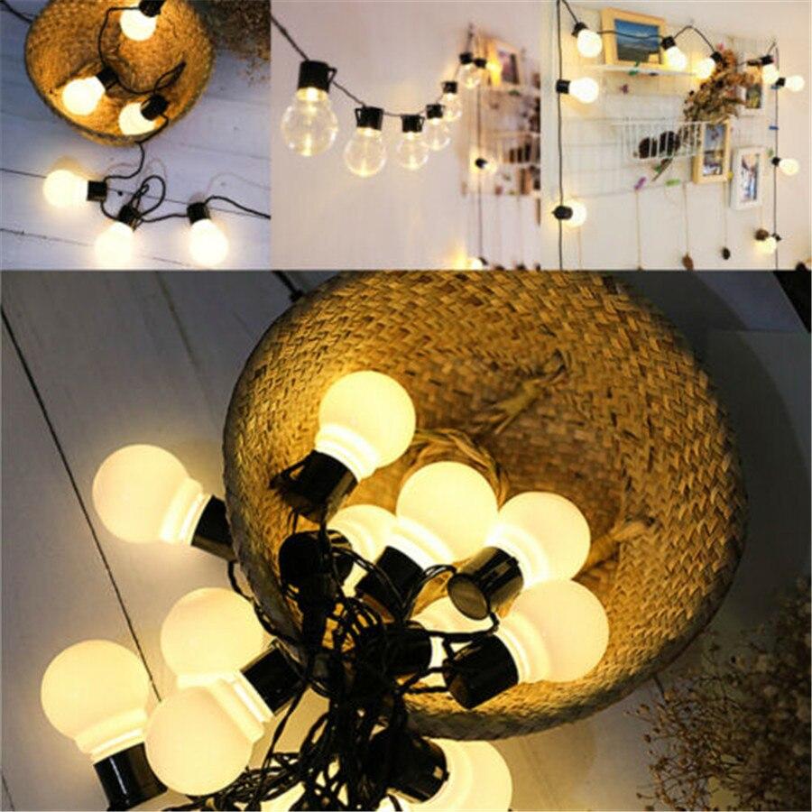Bombillas LED para interior y exterior, guirnalda de luces, bola, globo conectable, lámpara de hadas para boda, fiesta, hogar, jardines, pérgolas, barbacoa