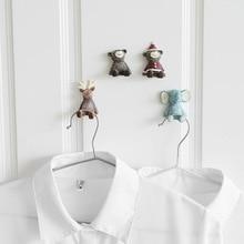 1pcs Key Plug Hook Storage Rack Resin Hooks Family Robe Hanging Hooks Hats Bag Family Robe Hats Bag Key Adhesive Wall Hanger