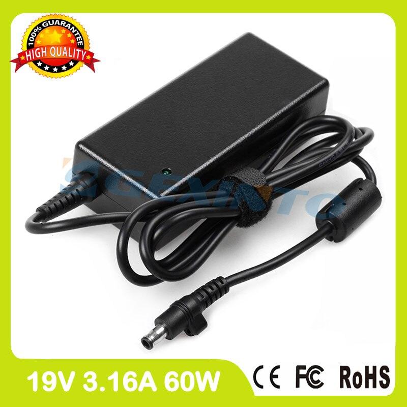 19 V 3.16A 60 W portátil adaptador de corriente ac cargador para Samsung NP305V4Z NP410B2B NP550P4C NP600B NP270E4E NP270E4V NP300E4C