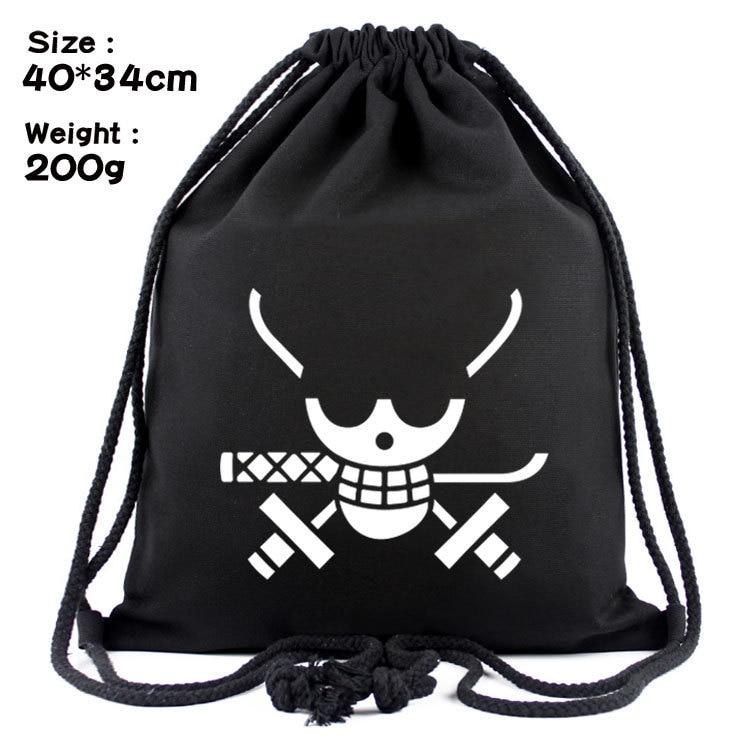 Una pieza Luffy Anime de lona de moda mochilas mochila con cordones de dibujos animados Casual de bolsas de compras mochila Unisex Nuevos regalos