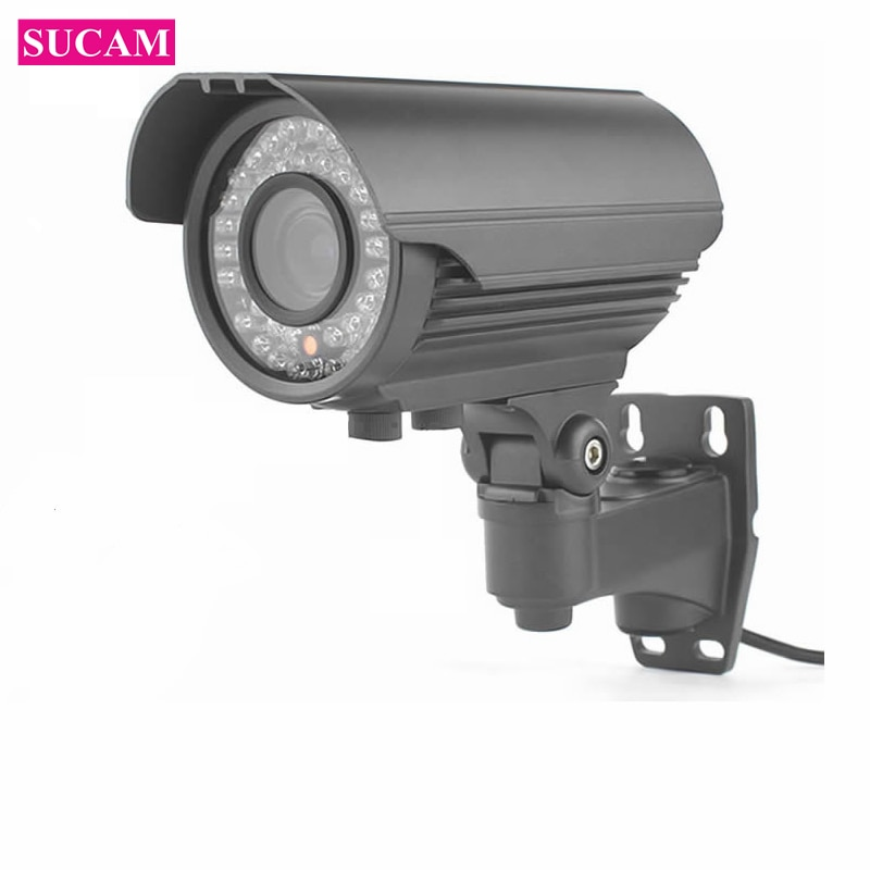 Cámara infrarroja impermeable SUCAM AHD al aire libre 4MP 2,8-12mm lente de Zoom Varifocal visión nocturna 4 megapíxeles cámara de vigilancia IR