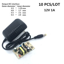 10 PCS Power Adapter Versorgung Ladegerät Adapter dc 12 V 1A ac 100-240 V UNS Stecker für Schalter LED Streifen Lampe Äußere durchmesser 3,5/4,0/5,5mm