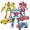 DIY התאסף רובוט רכב דגם מתכת בלוקים סט רובוט או רכב גזע בנייה בלוקים Playset צעצועים חינוכיים לילדים