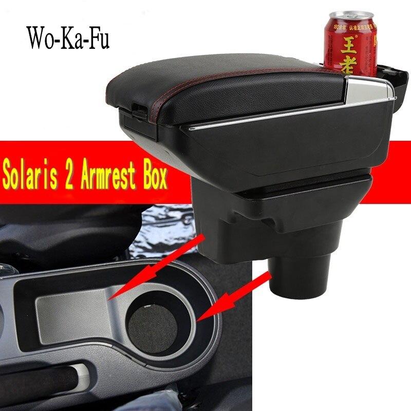 Para kia rio x-lai caixa de apoio de braço loja central caixa de armazenamento conteúdo kia armresrt com suporte de copo cinzeiro produtos interface usb 2017