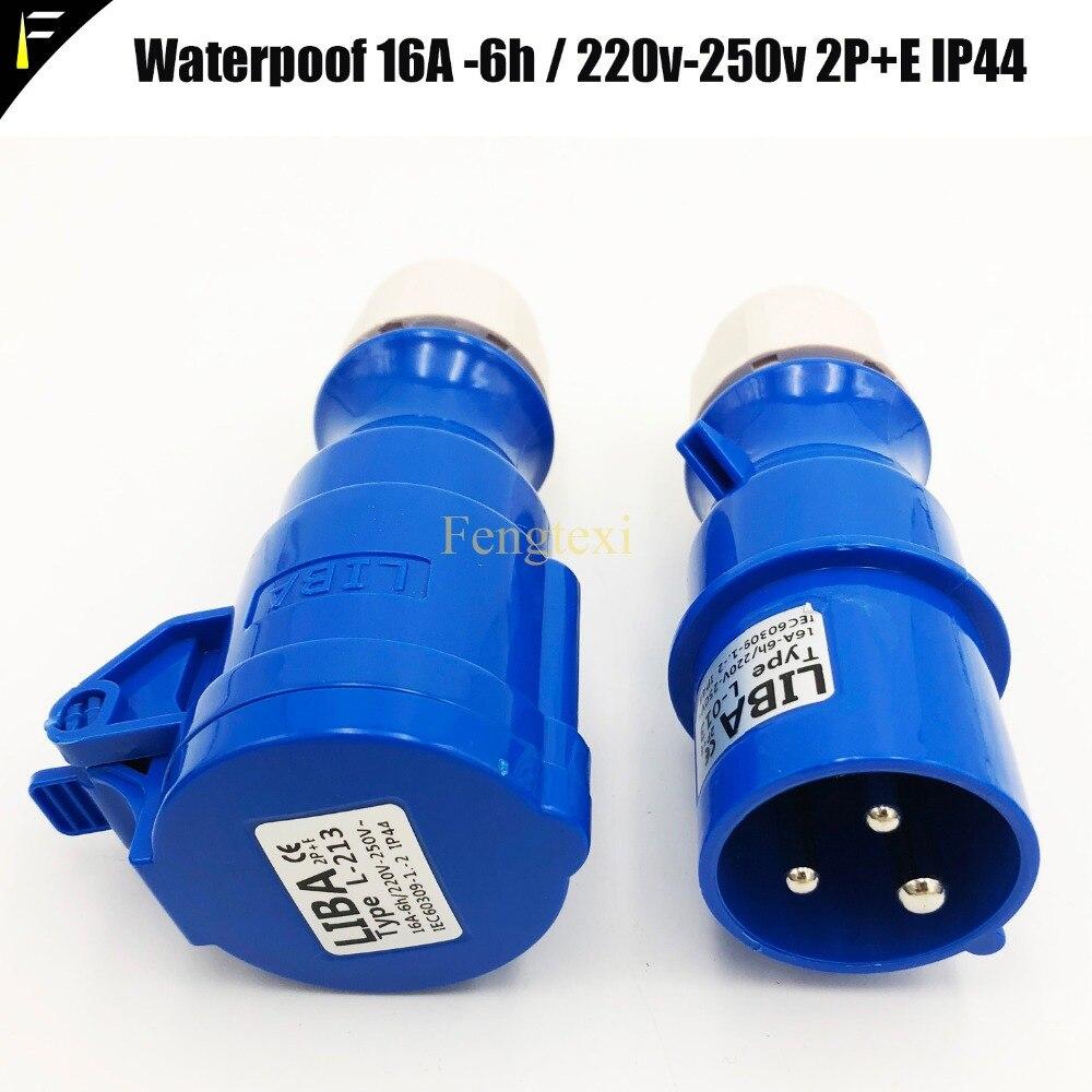 2PCS 16A PCE CEE Stecker EU Coupl Männlichen & Weibliche IP44 Industrielle Stecker & Buchse für Adapter Split Box distributor Stecker Kopf