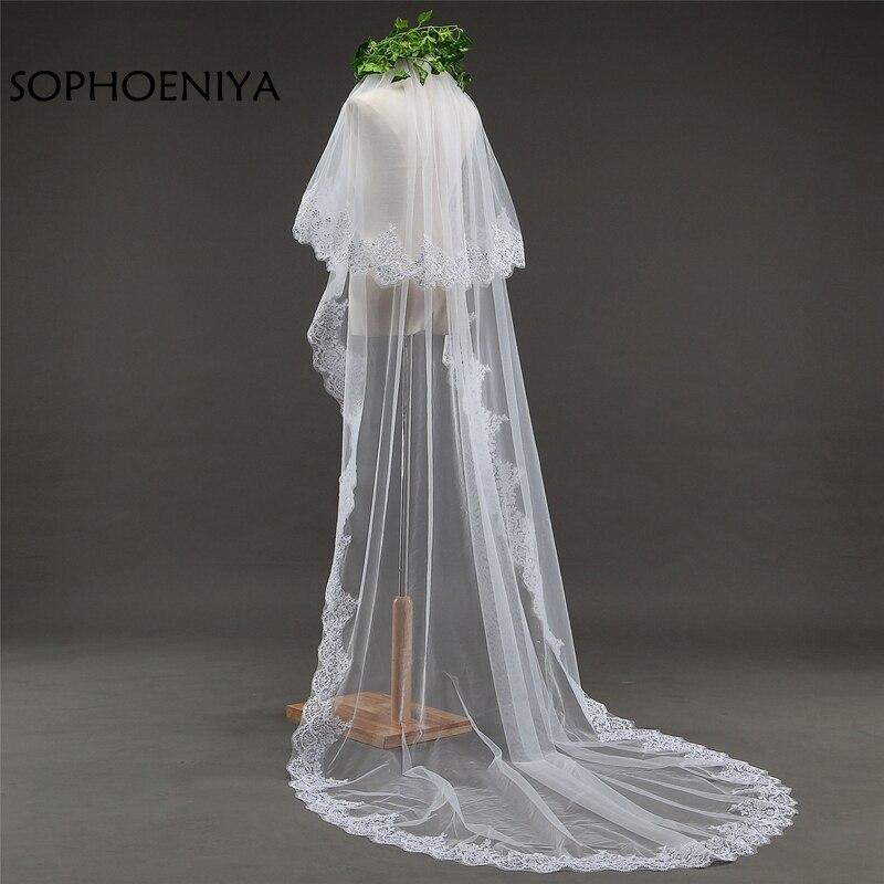 Velo de novia blanco marfil de 3 metros, velo barato de novia,...