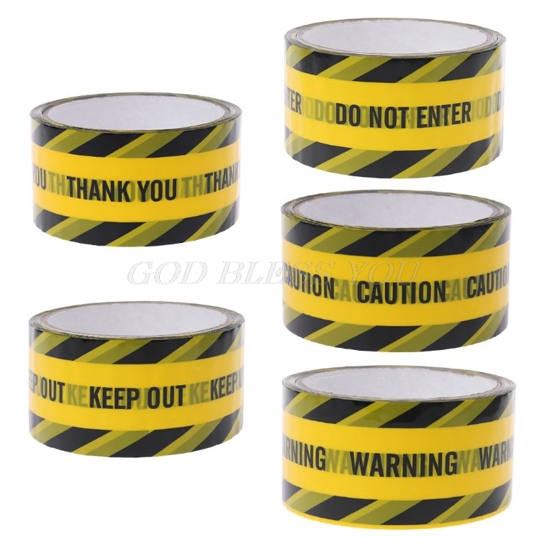 1 rollo de 25 m, cintas de advertencia amarillas, sarga negra, cinta adhesiva de seguridad para el trabajo, marca de precaución, pegatina DIY
