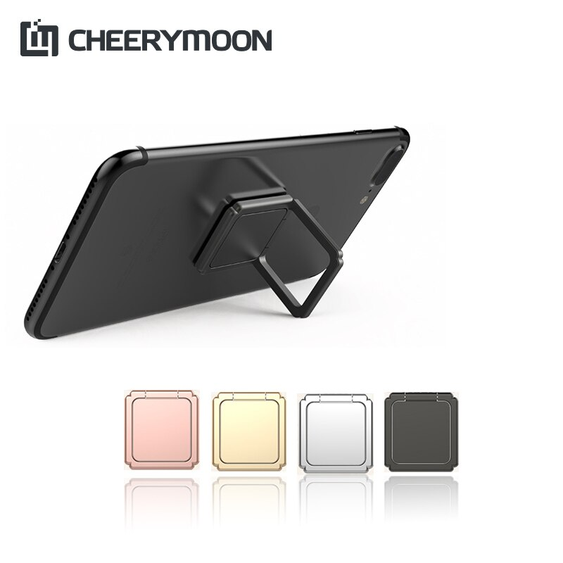 Cheerymoon auspicioso nó anel ire titular universal suporte do telefone móvel metal dedo aperto para iphone suporte de rastreamento completo