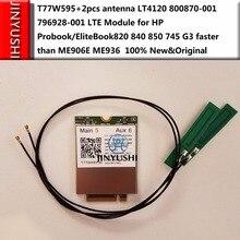 T77W595 + 2pcs antena LT4120 X5 Snapdragon LTE Módulo para HP Probook/EliteBook820 840 850 745 HP ProBook G3 X2 612 g2