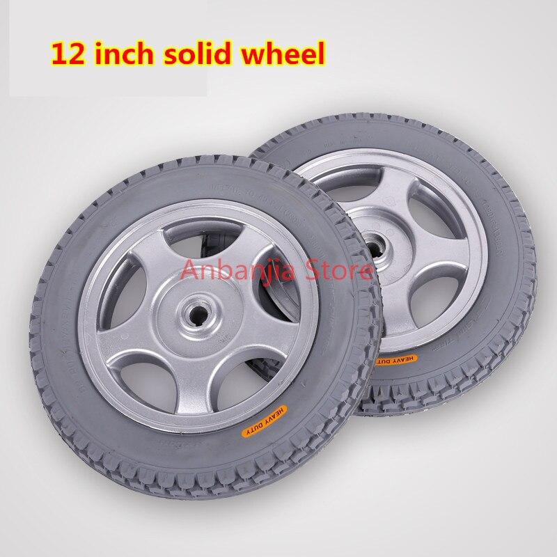 أرخص سعر أفضل جودة مفيدة 12 بوصة الصلبة الجبهة عجلة ل الكراسي المتحركة