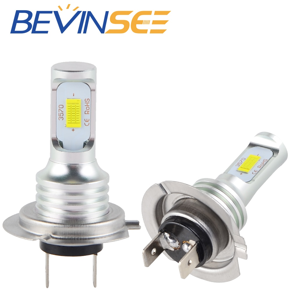 NICECNC 100 W/Pair de H7 LED o faro de haz de luz bajo bombilla para Kawasaki Z1000 2003, 2004, 2005, 2006, 2007, 2008, 2011, 2012, 2013