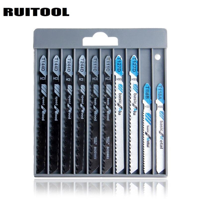 RUITOOL 10 шт./компл. джиг пилы T144D/T244D/T111C/T127D/T118A/T118B пилы резки для дерева металла электроинструменты аксессуары
