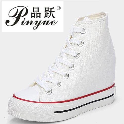Superstar, zapatos de lona de alta calidad para mujer, alpargatas, primavera Otoño, zapatos de cuña para mujer, zapatos informales con cordones, Sapatilha