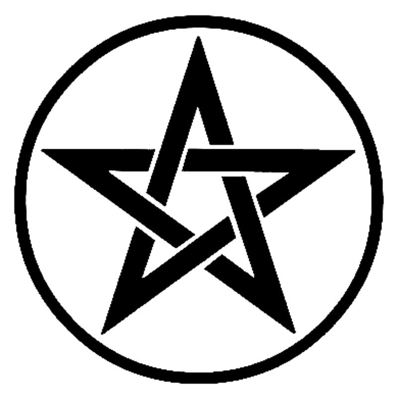Star Pentalpha-pegatina de moda para coche y motocicleta, 12,5 cm x 12cm,...
