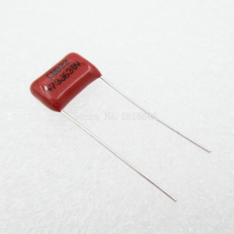 20 PCS/Lot 47nF 473 630 V CBB Film polypropylène condensateur pas 10mm 473 47nF 630 V nouveau