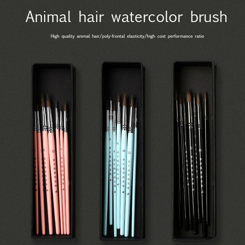 Bgln набор акварельных кистей акварельные краски для начинающих студентов акварельные кисти ручная роспись нейлоновая ручка принадлежности...