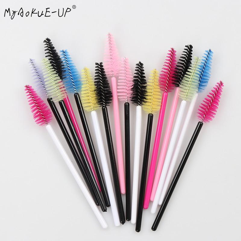 200 pcs Wholesale Water Drop Shape Nylon Material Mix Color Lashes Makeup Brushes Eyelash Extension Tools Eyelashes Brushes