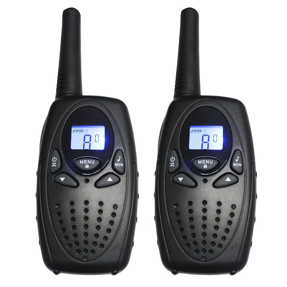 2PC TS628 1w Portable Walkie Talkies interphone radios PMR two Way ham Radio Transceiver dual monitor w/ earphones charger