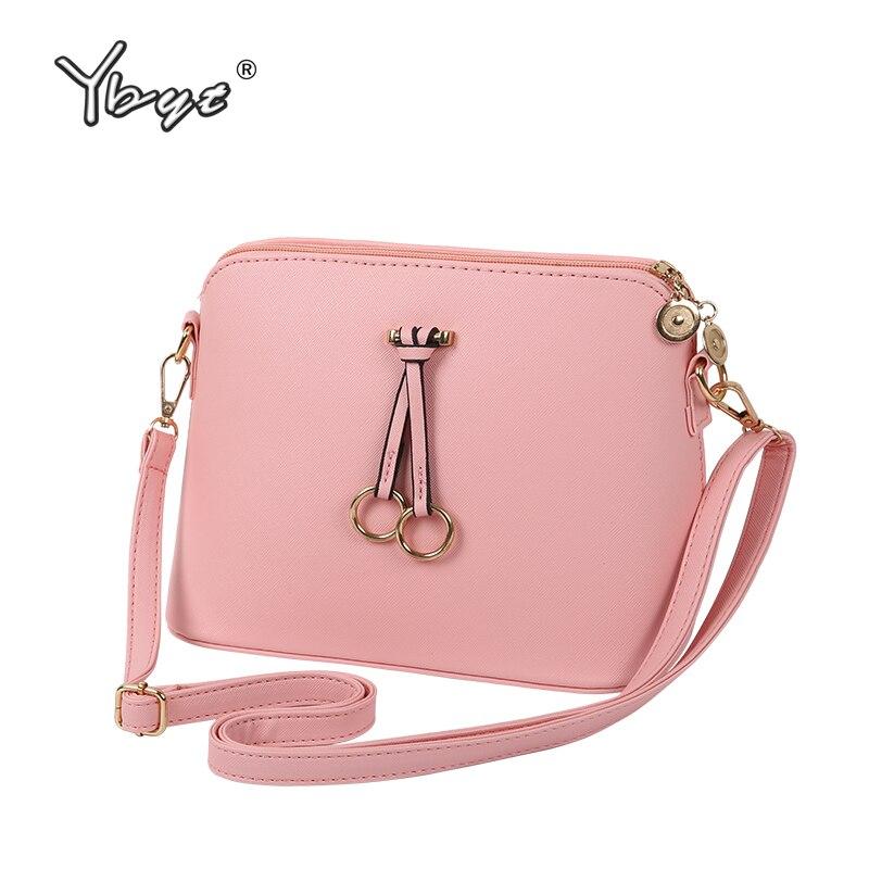 YBYT brand 2019 new simple casual bow women handbag high quality ladies coin purses shell bag shoulder messenger crossbody bags