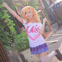 Lovelive! Cosplay Minami Kotori Nico Yazawa T-shirt à manches courtes haut amour live 2 Kousaka Honoka été blanc t-shirts lettre