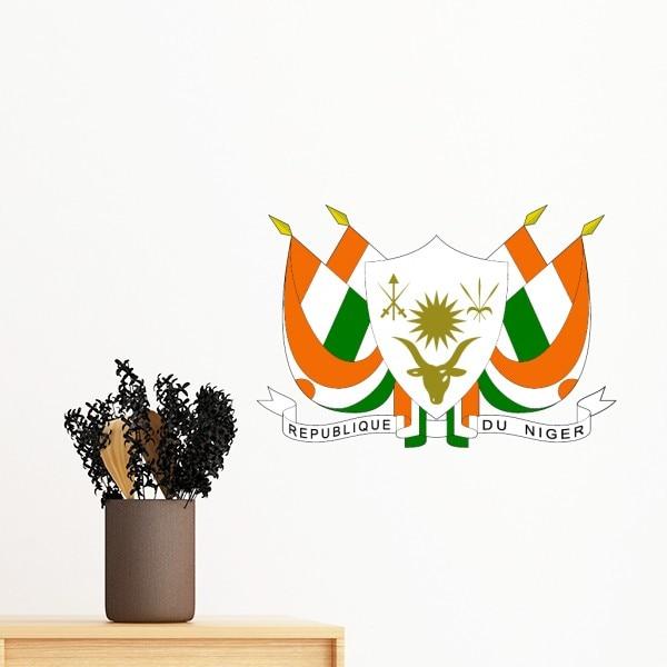 Níger África emblema nacional etiqueta extraíble para pared arte Mural de papel para etiqueta de habitación