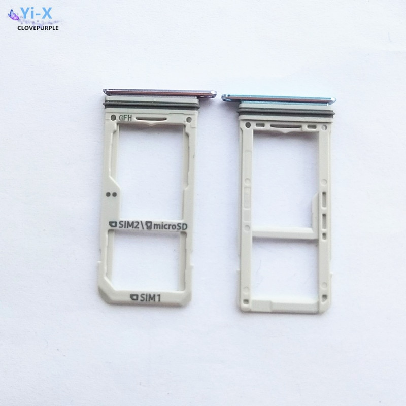 Wholesale Price 100PCS/Lot for Samsung Galaxy S8 G950 S8 Plus G955 Dual/Single SIM Card Slot SD Card Tray Holder Adapter enlarge