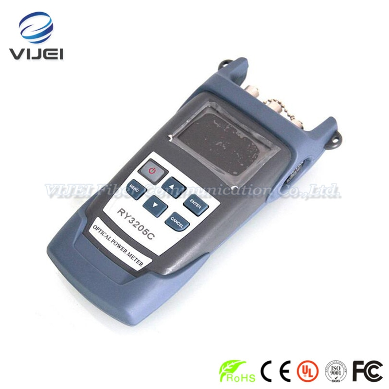 Multímetro de fibra óptica de mano RY3205C + medidor de potencia óptica + fuente de luz láser de fibra óptica SM1310/1550nm + 10 mw VFL