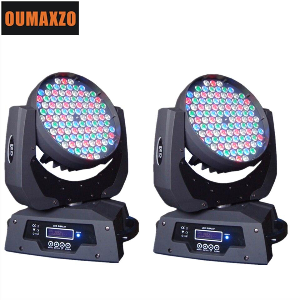 2 uds/lote 108 Uds 3W RGBW alta potencia DMX 512 luz con cabezal móvil led etapa 108 Uds 3W lavado rgbw 108x3w cabezales móviles de luz 108