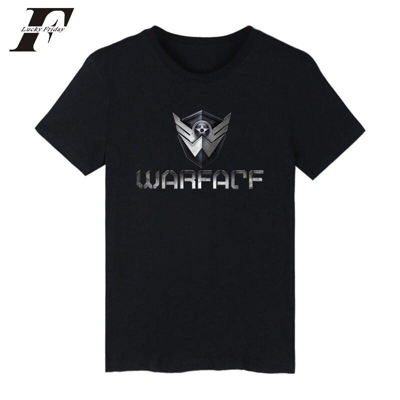LUCKYFRIDAY, Camiseta deportiva Warface para hombre 2017, camisa masculina de manga corta, camiseta negra con logo Warface, camisetas para hombre, xxs-4xl