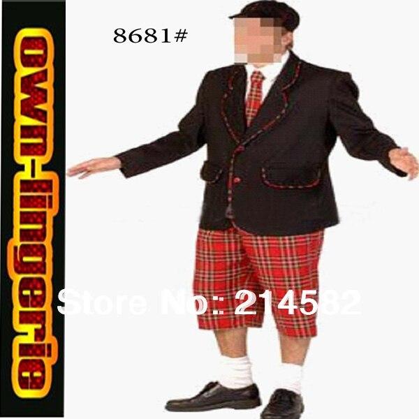 western noble man's suit Plaid family party fancy siut costume 4717