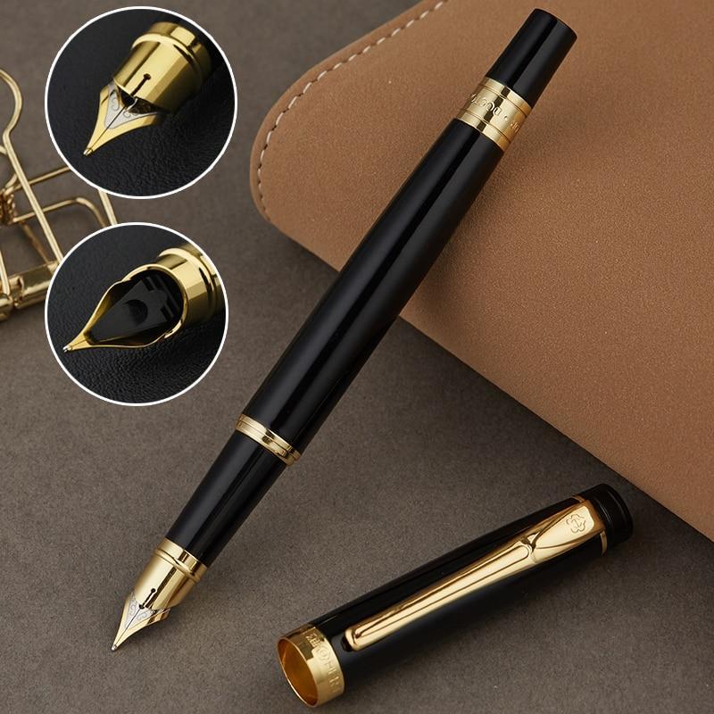 Pluma estilográfica iraurita de Metal 0,5mm bolígrafos de tinta caligrafía practicar la escritura bolígrafo de negocios material de oficina escuela 1046
