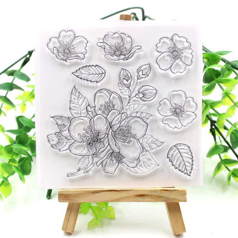 ZFPARTY цветы прозрачный силиконовый штамп для DIY скрапбукинга/фотоальбома декоративный прозрачный штамп