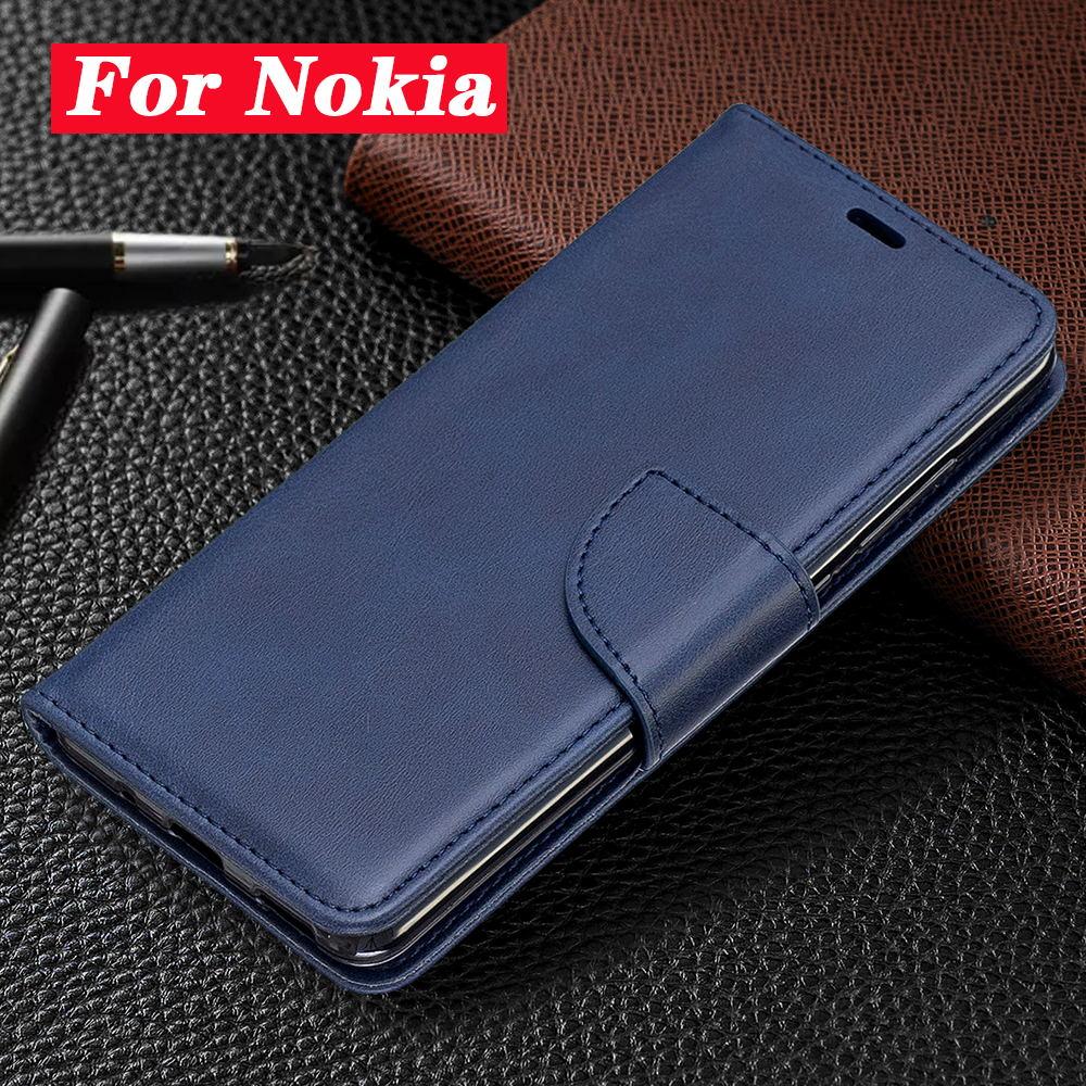 Funda de cuero de negocios para Nokia 7/6/6. 1/5/5. 1/3/2. 2 fundas magnéticas de cuero para teléfono 2,1/2,2/3,1/3,2/4,2