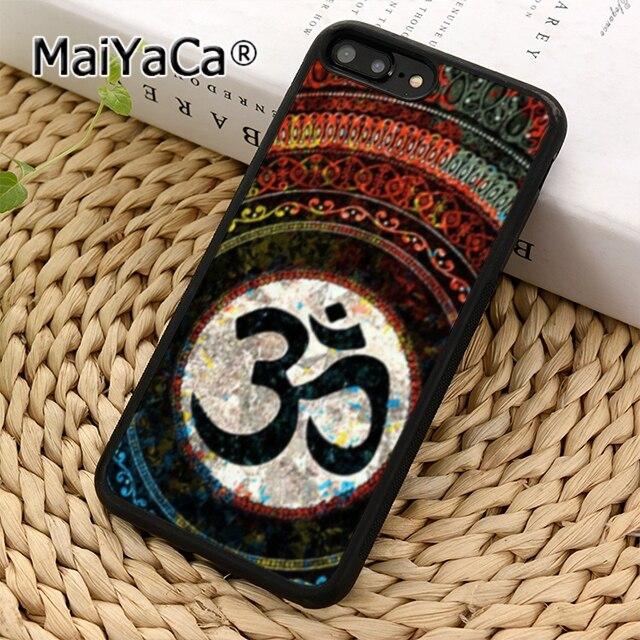 MaiYaCa Aum Om Yoga cubierta de la caja del teléfono para iPhone 5 5 s 6 s 7 8 plus 11 pro X XR XS max Samsung Galaxy S6 S7 borde S8 S9