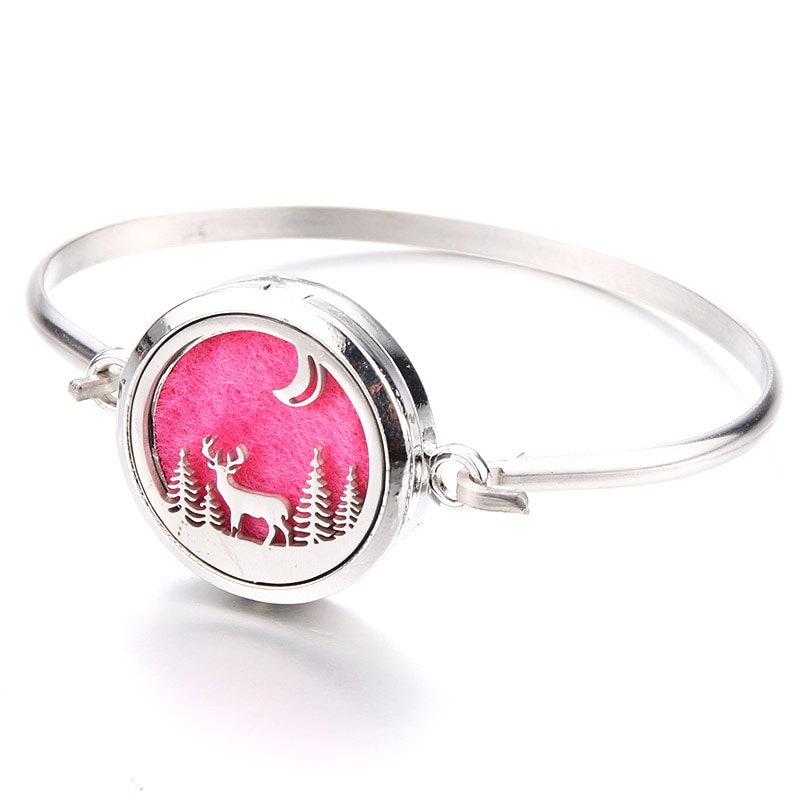 Beautiful Elk Aromatherapy Bracelet Aroma Essential Oil Diffuser Locket Stainless Steel Bracelet Fas