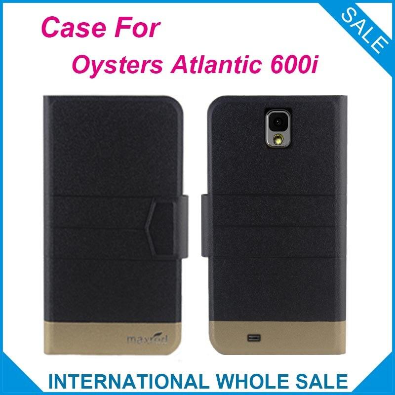 5 Cores Quentes! ostras Atlântico 600i Caso de Negócios de Moda de Couro fecho Magnético Flip Caso Exclusivo Para Ostras Atlântico 600i