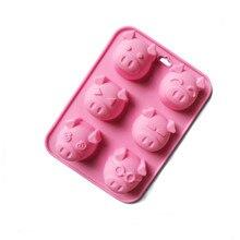 2018 nueva llegada 3D silicona Chocolate molde caramelo galleta hornear Fondant molde decoración herramientas de postre