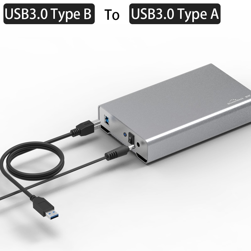 3.5 inch HDD Enclosure USB 3.1/USB 3.0 Port External Case For SATA Hard Disk Full Aluminum Type C or USB B External Enclosure