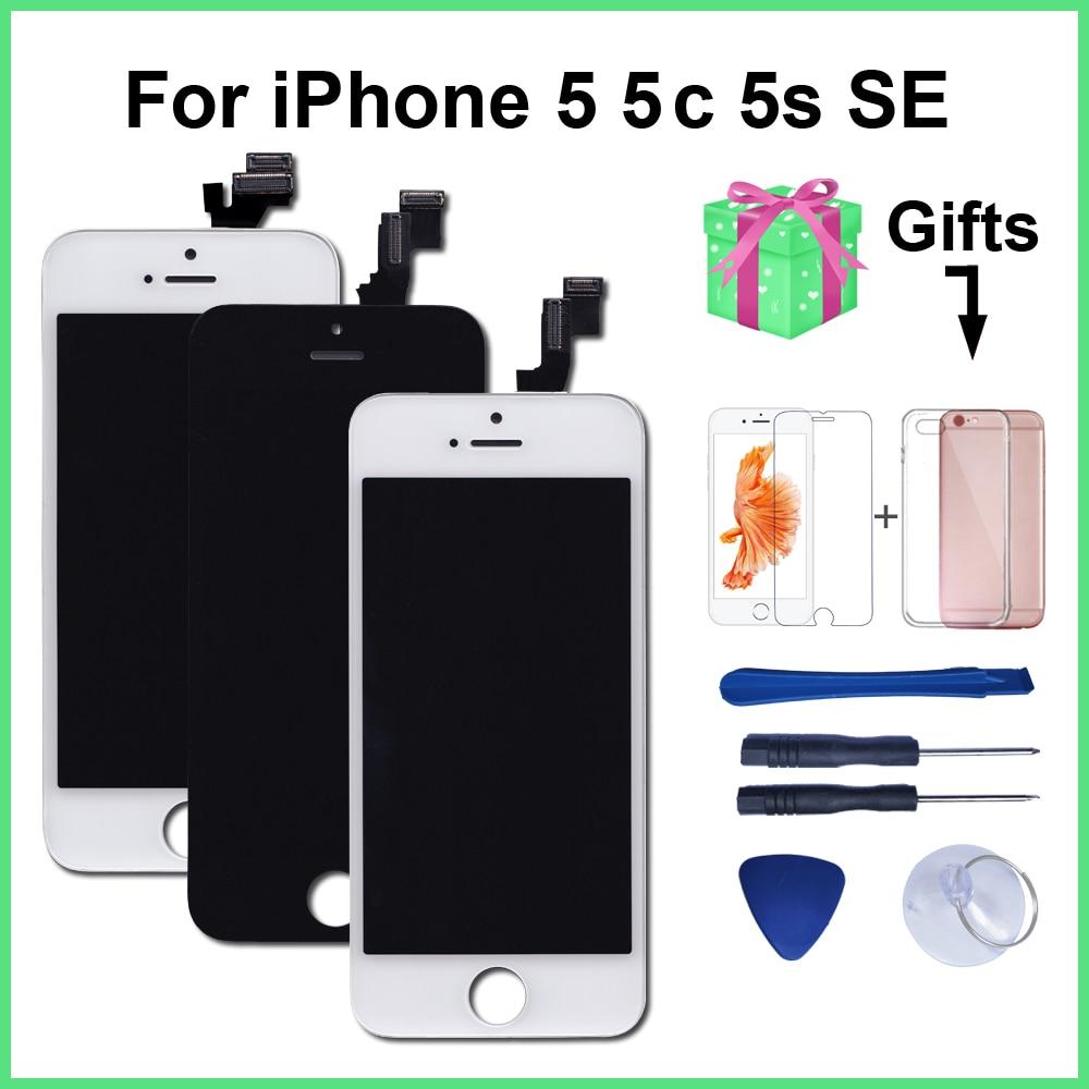 Calidad AAA LCD para iPhone 5 5C 5S SE reemplazo pantalla digitalizador pantalla táctil montaje para iPhone 6 pantalla LCD