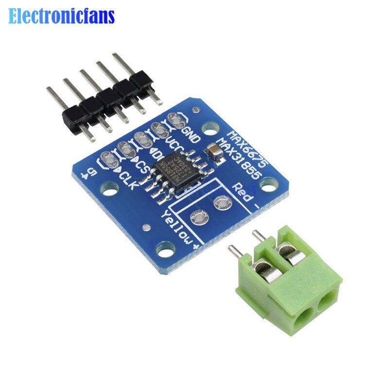MAX31855 MAX6675 SPI Type K Thermocouple Temperature Sensor Board Module For Arduino