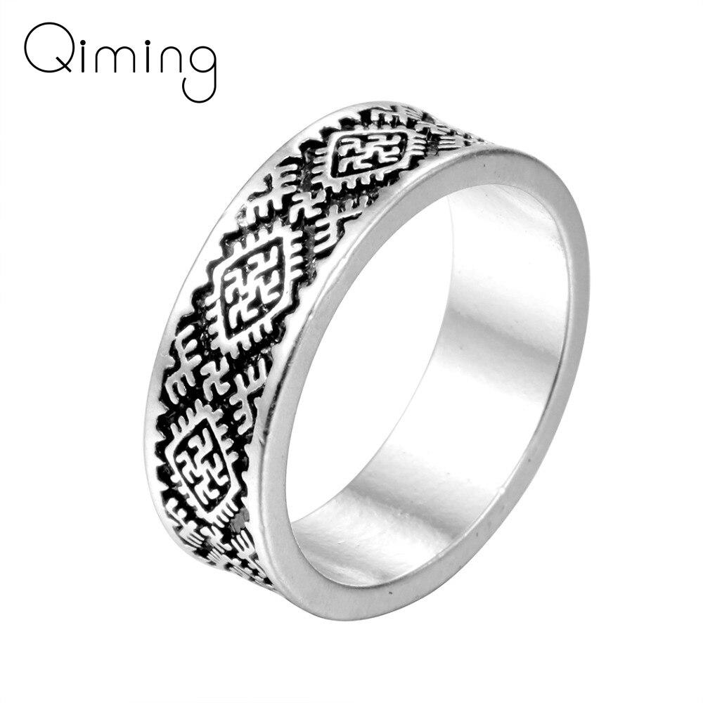 Handmade Valknut Odin 's Slavic Rings For Women Viking Fern Flower Ring Christmas Birthday Jewelry Gift Men