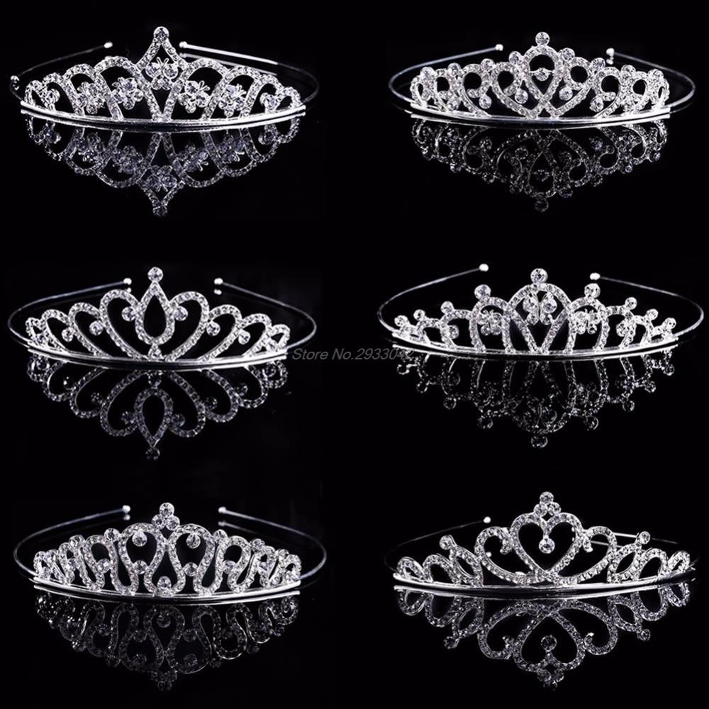 Wholesale Fashion Bridal Wedding Rhinestone Crystal Hair Headband Crown Comb Tiara Prom Pageant  -W128