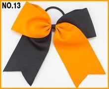 free shipping 60pcs  8'' two tone cheerleading hair bows cheer hair clips two color sport hair bows girl cheerleader bow